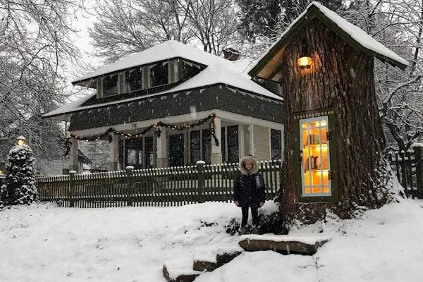アメリカ・アイダホ州の大木の再利用法が素敵