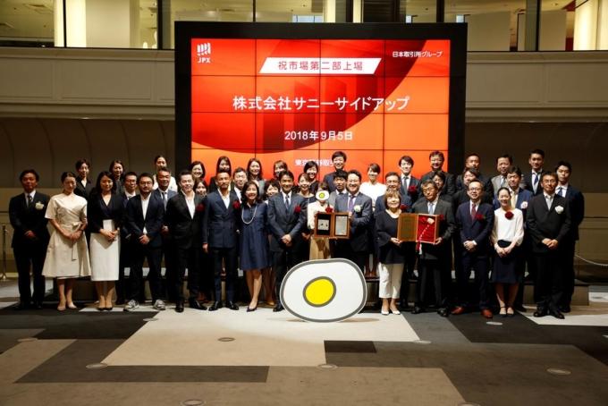 もっと大きな「たのしいさわぎ」をおこすために!サニーサイドアップは東京証券取引所第二部へ市場変更しました!