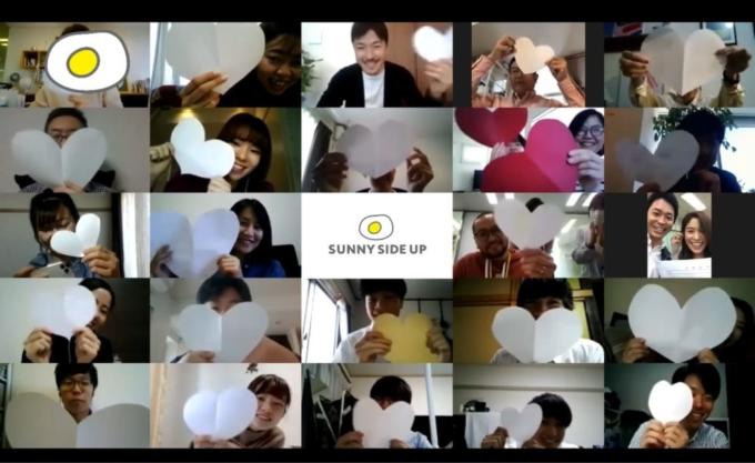 """【サプライズあり!】今回はそれぞれの自宅からZoomで参加!最新のトレンドを共有する朝会""""ポーチドエッグ""""の様子をお届けします!"""